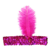tallahassee Women's Feather Headband Flapper Shiny Sequin Headpiece Party