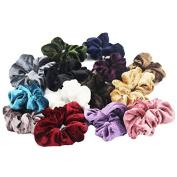 6PCS Velvet Hair Scrunchies elastic Spring Hair Bands Ties Ponytail Holder Hair