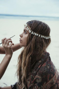 OVERMAL Women's Bohemian Metal Head Chain Shell Headband Head Piece