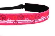 Mavi Bandz Adjustable Non-Slip Fitness Headband - Peace Signs