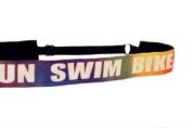 Mavi Bandz Adjustable Non-Slip Fitness Headband Swim Bike Run Triathlon - Rainbow