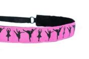 Mavi Bandz Adjustable Non-Slip Fitness Headband Dance - Hot Pink