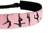 Mavi Bandz Adjustable Non-Slip Fitness Headband Gymnastics - Pink