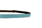 Mavi Bandz Adjustable Non-Slip Fitness Headband in 1cm Skinny Plain - Turquoise