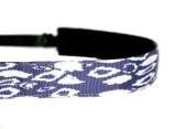 Mavi Bandz Adjustable Non-Slip Fitness Headband in Aztec - Indigo