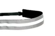 Mavi Bandz Adjustable Non-Slip Fitness Headband in Reflective Running - Grey