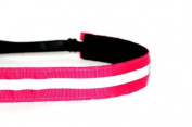Mavi Bandz Adjustable Non-Slip Fitness Headband in Reflective Running - Pink