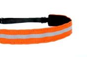Mavi Bandz Adjustable Non-Slip Fitness Headband in Reflective Running - Orange
