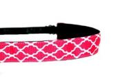 Mavi Bandz Adjustable Non-Slip Fitness Headband Quatrefoil - Pink