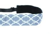 Mavi Bandz Adjustable Non-Slip Fitness Headband Quatrefoil - Grey