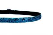Mavi Bandz Adjustable Non-Slip Fitness Headband Skinny Sparkle 1cm - Dark Turquoise