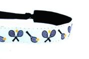 Mavi Bandz Adjustable Non-Slip Fitness Headband Tennis - White