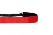 Mavi Bandz Adjustable Non-Slip Fitness Headband in Plain Jane - Red
