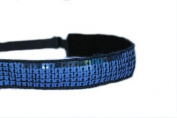 Mavi Bandz Adjustable Non-Slip Fitness Headband Sequin - Navy