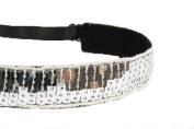 Mavi Bandz Adjustable Non-Slip Fitness Headband Sequin - Silver