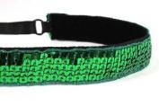 Mavi Bandz Adjustable Non-Slip Fitness Headband Sequin - Green