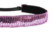 Mavi Bandz Adjustable Non-Slip Fitness Headband Sequin - Purple