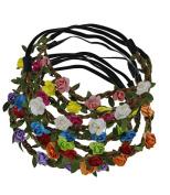 Kedera 9pcs Baby Girl Head Wreath Bohemian Flower Crown Floral Garland Headbands Random Colour for Girls