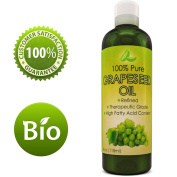 Pure Grape Seed Oil Extract Cold Pressed Extraction Moisturising Antioxidant Oil for Skin Hair and Nails Great for Massage Anti Ageing Face Moisturiser Hair Serum With Vitamins E C D for Women and Men