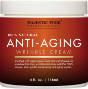 Majestic Pure Anti-Ageing Night Cream for Woman and Men, 100% Natural, Safe and Gentle Cream Reduces the Appearance of Wrinkles, 120ml