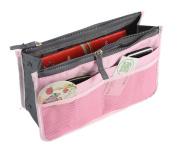 Micom Multi-function Expandable 13 Pocket Handbag Insert Purse Organiser Tidy Travel Cosmetic Bag with Handles
