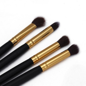 Lookatool® 4Pcs Makeup Cosmetic Tool Eyeshadow Powder Foundation Blending Brush Set