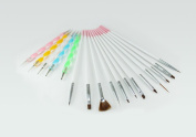 ZIO 12pcs Nail Art Brushes ,5pcs 2 Way Dotting pen