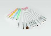 ZIO 12pcs Nail Art Brushes ,5pcs 2 Way Dotting pen