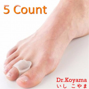 Dr.Koyama ( 5 pcs ) Toe Spacers Soft Gel Toe Spreaders - Work as Bunion Splint or Straightener for Overlapping Toes - Hallux Valgus, Hammer Toe, Mallet Toe Pain Relief