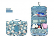 Homegifts Hanging Travel Toiletry Bag Cosmetic Makeup Pouch Toiletry Case Wash Organiser-Blue,Red,Yellow