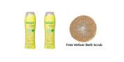 2 x Dhathri Dheedhi Lime Shampoo 250ml (8 .45 oz) + Free Vetiver Bath Scrub