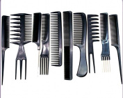 10pcs Salon Hair Comb Hair Brush Set good for barber