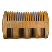 Xuanli Beard Comb Natural Green Sandalwood Combs Top Quality Handmade Combs For Man No Static 1Pcs M023