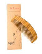 Hawkeye® Natural Green Sandalwood Wood Comb-16cm length handmade,portable with Aromatic Smell