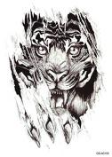 "1 pc Fashion Waterproof Temporary Tattoo Body Art Tattoo Sticker On Waist, Shoulder, Arm, Back, Bust, Leg ""Tiger Head"" A100"
