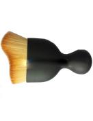 Single (double colour) wave contour brush brush glass powder brush arc