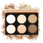 Eshion 6 Colour Contour Face Powder Makeup Blush Brownzer Concealer Palette with Mirror