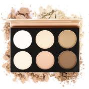 Eshion 6 Colour Contour Face Powder Makeup Blush Brownzer Concealer Palette with Mirror