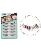 5 Pairs false eyelashes Luxury Princess Natural cross brief hand sharpened