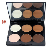 Mallofusa Six Colour Shimmer Grooming Face Compact Powder Palette,15ml