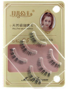3 Pairs Very fine natural lashes Fake Eye Lash False Eyelashes Makeup