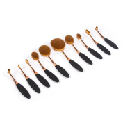 Professional Soft Oval Toothbrush Makeup Brush Sets Foundation Brushes Cream Contour Powder Blush Face Brush Makeup Cosmetics Tool Sets