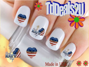 Military - Navy Wife Heart - WaterSlide Nail Art Decals - Highest Quality! Made in USA