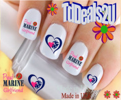 Military - Marine Girl Friend 1 - WaterSlide Nail Art Decals - Highest Quality! Made in USA
