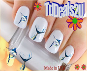 Fish - Marlin Fishing WaterSlide Nail Art Decals - Highest Quality! Made in USA