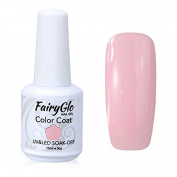 FairyGlo Long Kept Gelpolish Soak Off Gel Nail Polish UV LED Nail Art Manicure Lacquer Decor Kit 15ml Baby Pink 1532