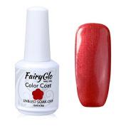 FairyGlo Long Kept Gelpolish Soak Off Gel Nail Polish UV LED Nail Art Manicure Lacquer Decor Kit 15ml Pearl Red 1522