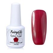 FairyGlo Long Kept Gelpolish Soak Off Gel Nail Polish UV LED Nail Art Manicure Lacquer Decor Kit 15ml Dark Red 1447