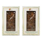 "Alikay Naturals Amazing Black Soap 100% Raw Natural 180ml ""Pack of 5.1cm"