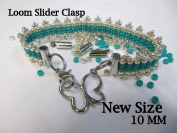 Bead Loom Slider Clasp, Silver Colour, 18 Package, 0.6cm Long, Bead loom Clasp, Bracelet Findings, Bead Loom Patterns